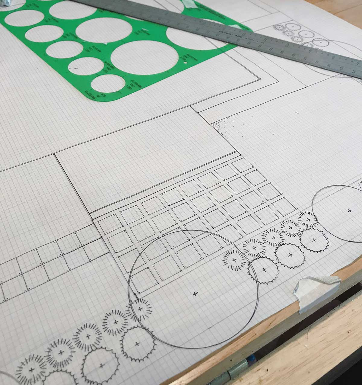 The Green Seed, Sustainable Design + Build, handrawn pen ink.