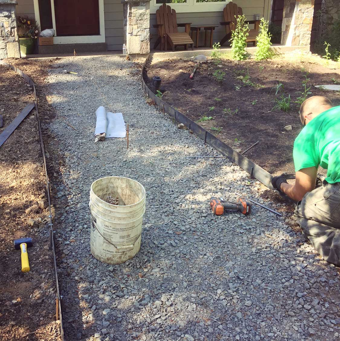 The Green Seed, Hardscaping pathways
