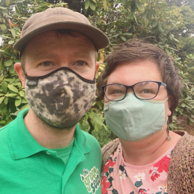 Masked Emily and Austin Owners of the Green Seed
